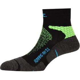 P.A.C. RN 5.1 Running Pro Korte sokker Damer, sort/grøn